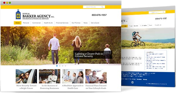 CT web design, Bakker Agency
