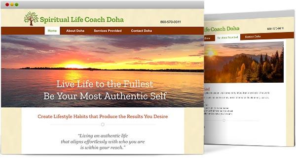 CTweb design, Spiritiaul Life Coach Doha