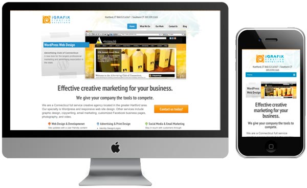 CT responsive web design