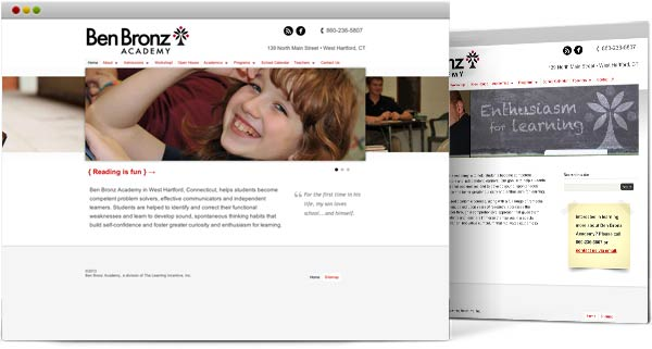 Web design for educational facilities