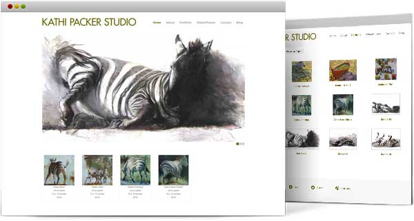 web design for Kathi Packer Studio
