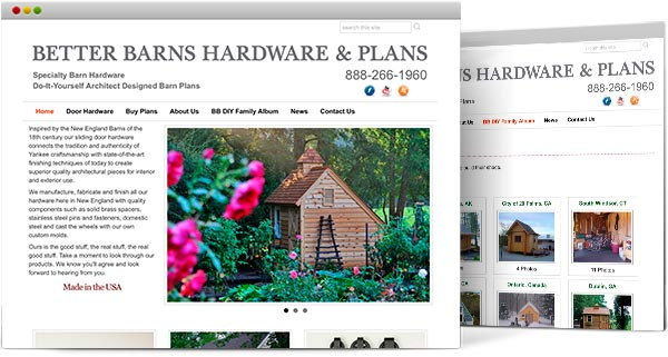 CT web design, Better Barns & Hardware
