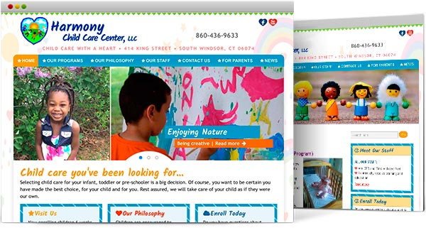 CT web design, Harmony Child Care Center