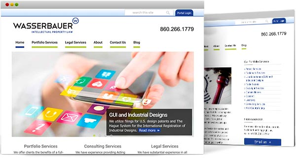 CT web design, Wasserbauer Law